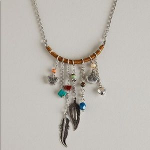 AEO Native Feather Charm Necklace